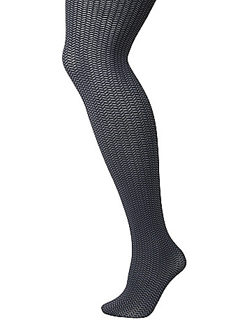 Chevron weave tights by Lane Bryant