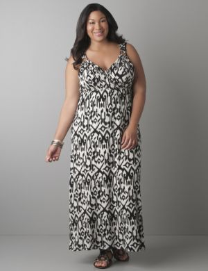 Tribal ikat maxi dress