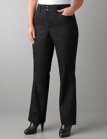 Straight leg black jean with Tighter Tummy Technology