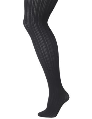 Textured cable tights