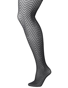 Chevron tights by Lane Bryant