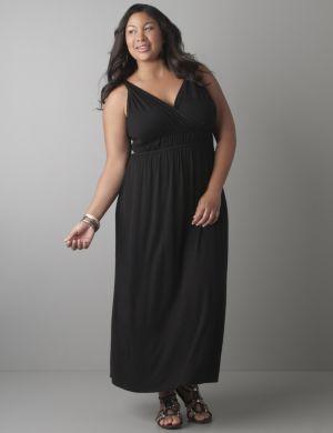 Twist strap maxi dress