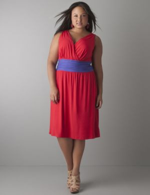 Colorblock knit dress