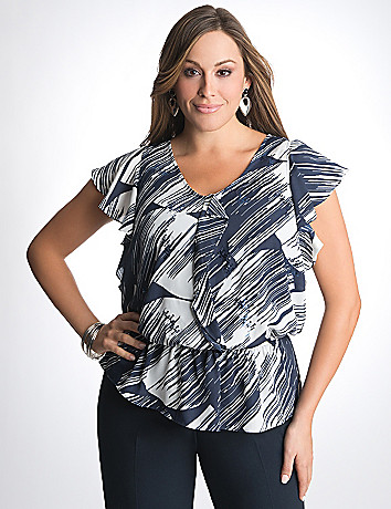 Plus Size Animal print peplum tank by Lane Bryant