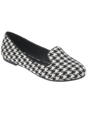 Houndstooth smoking slipper