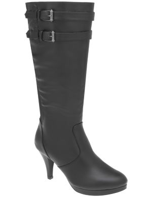 Buckled platform boot