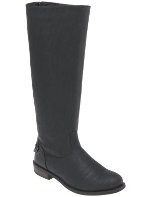 Back zip riding boot