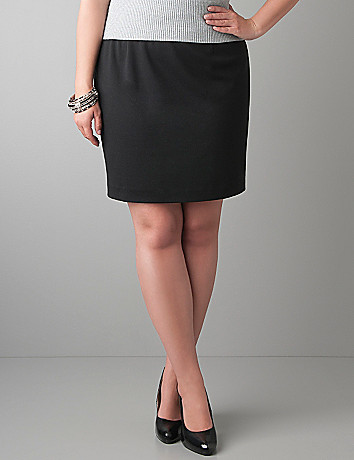 Ponte knit mini skirt by Lane Bryant