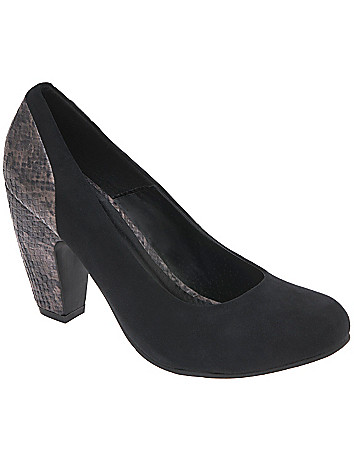 Croc banana heel pump by Lane Bryant
