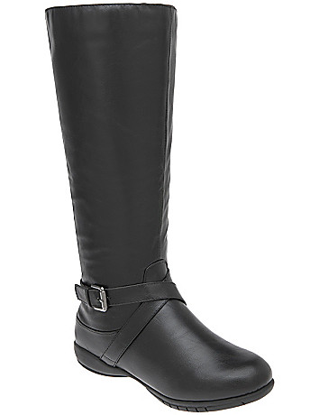Buckled riding boot with comfort sole by Lane Bryant
