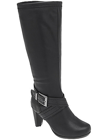 Croc strap heeled boot by Lane Bryant