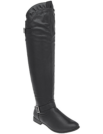 Ruffled over the knee boot by Lane Bryant