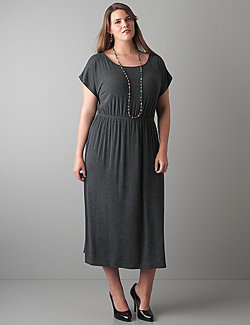 Tee maxi dress with belt by Lane Bryant