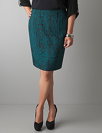 Reptile print pencil skirt by Lane Bryant
