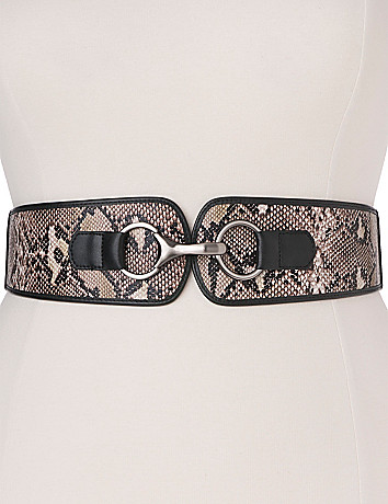 Snakeskin tab stretch belt by Lane Bryant