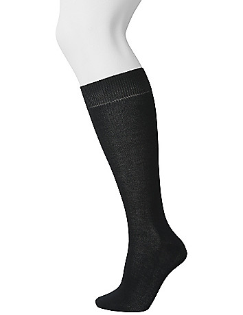 Bamboo knee sock duo by Lane Bryant