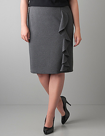 Ruffled ponte knit skirt by Lane Bryant
