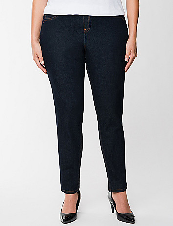 Dark rinse jegging by Lane Bryant
