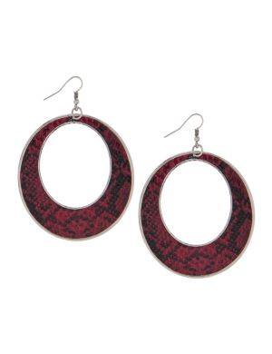 Snakeskin hoop earrings by Lane Bryant