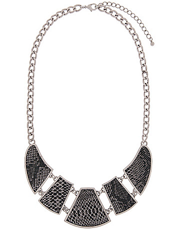 Snake print bib necklace by Lane Bryant