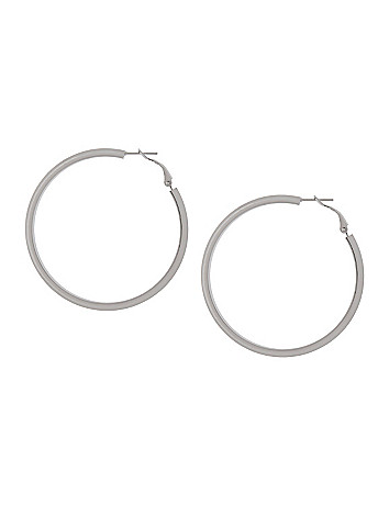Knife edge hoop earrings by Lane Bryant