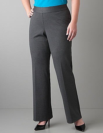 Ponte knit pull on trouser by Lane Bryant