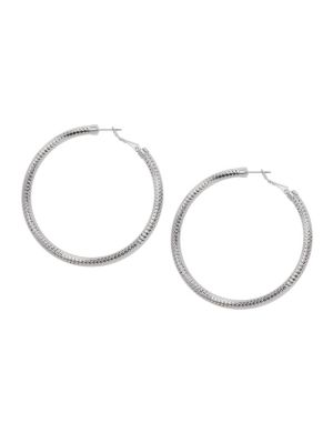 Faceted hoop earrings by Lane Bryant