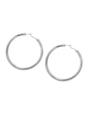 Faceted hoop earrings by Lane Bryant