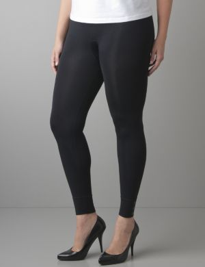 Control top leggings with snap accents