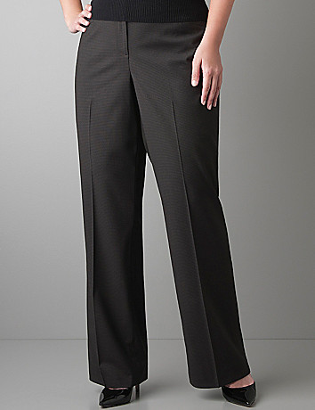 Grid patterned trouser by Lane Bryant