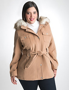 Patch pocket trench coat by LANE BRYANT