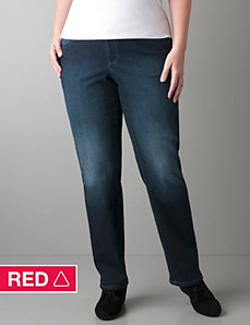 Straight leg jean with Right Fit Technology by Lane Bryant
