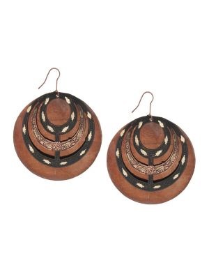 Patina disc earrings by Lane Bryant