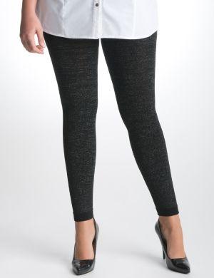 Metallic fleece leggings