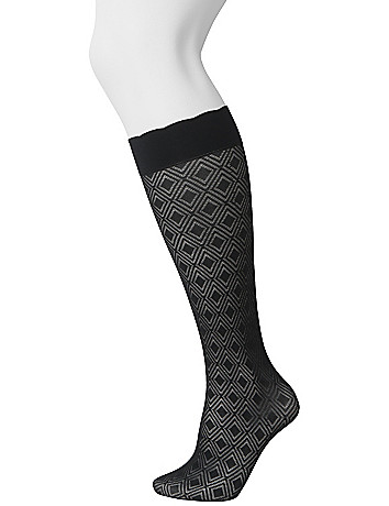 Diamond trouser sock 2-pair combo