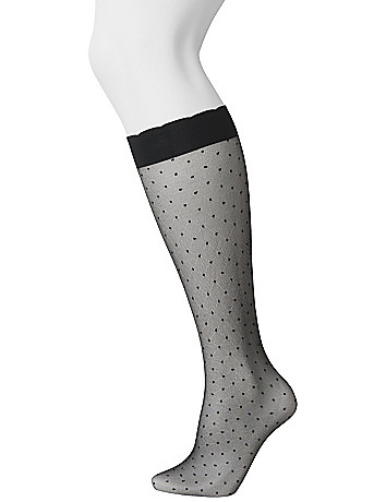 Polka dot & solid trouser sock 2-pair combo