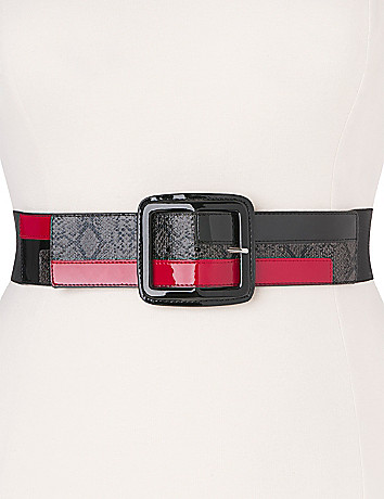 Python colorblock belt by Lane Bryant