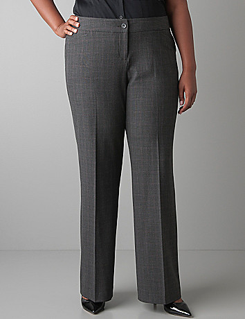 Plus Size Glen Plaid Trouser by Lane Bryant