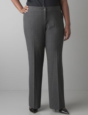 Glen plaid trouser