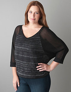High Low Raglan Top by Seven7