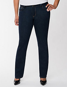 Straight fit bootcut jean  by Lane Bryant
