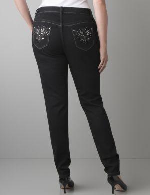 Embellished skinny jean