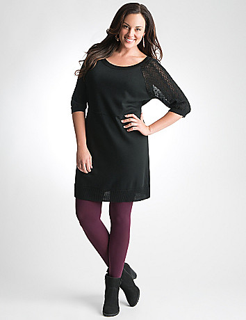 Plus Size Pointelle Sweater Tunic by Lane Bryant