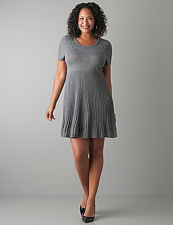 Short Sleeve Sweater Dress Tunic by Lane Bryant