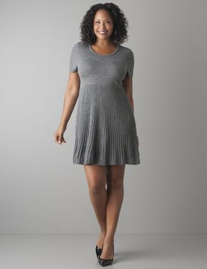 Short sleeve sweater tunic