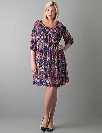 Chiffon peasant dress by Lane Bryant