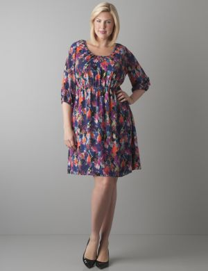 Print peasant dress