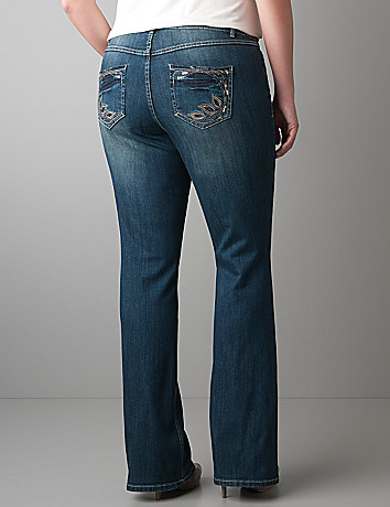 Peacock slim boot jean by Lane Bryant