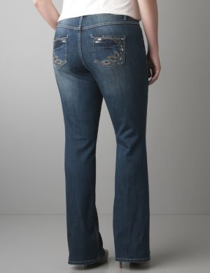Peacock slim boot jean