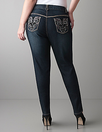 Velvet pocket skinny jean by Lane Bryant